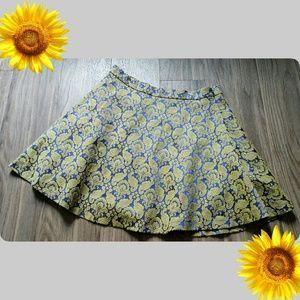 Dresses & Skirts - Last chance! Vintage style damask blue gold skirt